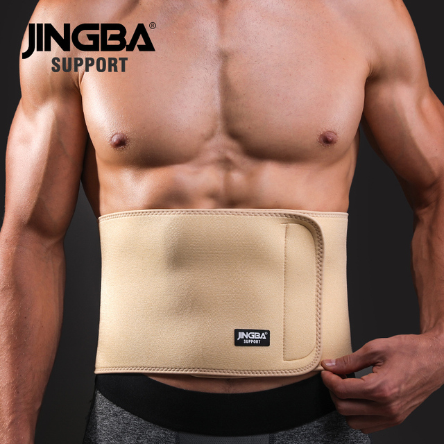 JINGBA SUPPORT Waist trimmer Slim fit Abdominal Waist sweat belt musculation abdominale Back Waist Support sport belt protective
