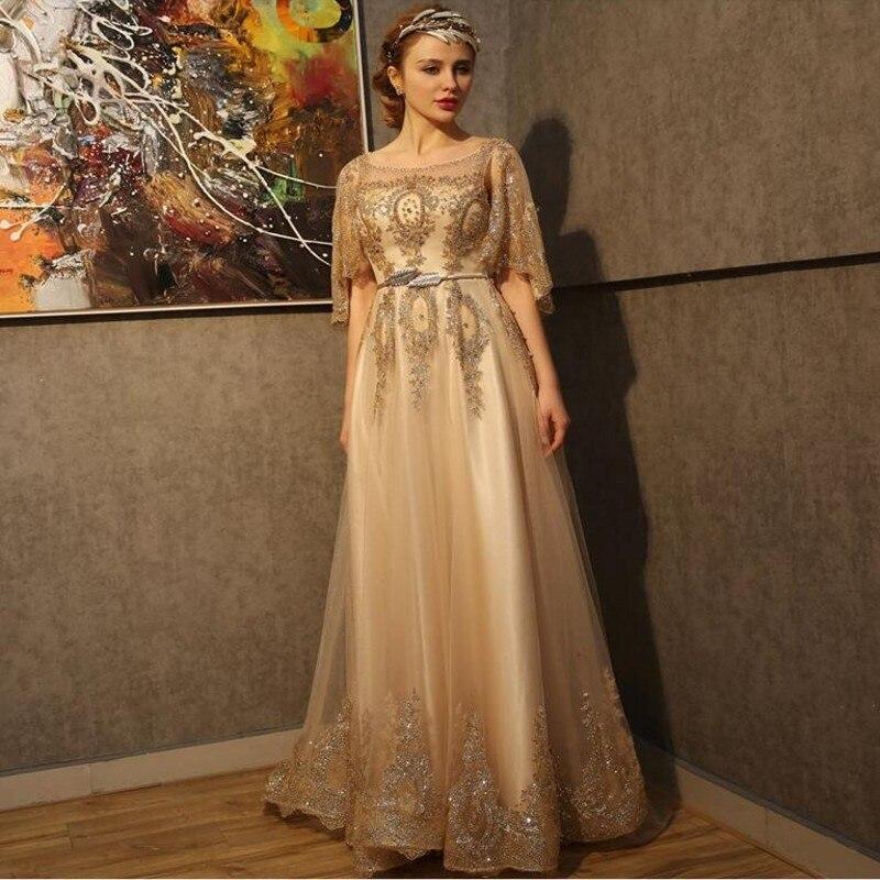 Вечернее платье длинное золото