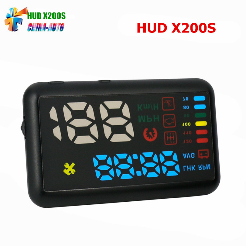AUTOOL X200S Universal OBDII Car HUD Car Speedometer Head-Up Display KM/h MPH Overspeed Alarm Windshield Projects Shift Reminder