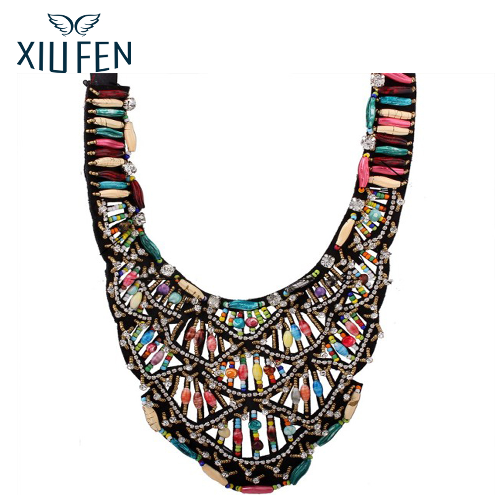XIUFEN national style windsets collar necklace colorful colorful bead jewelry and original retro female ornaments ZK30