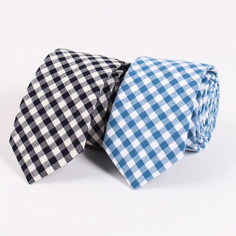 Φ_ΦMantieqingway 6.5 cm marca negro Plaid Corbatas para hombres moda ...