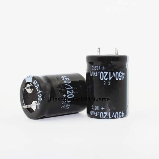 450V 120UF 120UF 450V Electrolytic Capacitor volume 22*30 best quality image