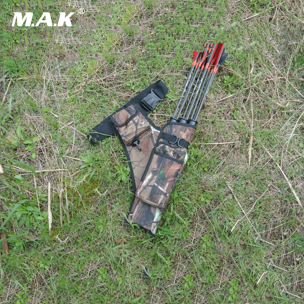 Arrows Quiver 45x35 cm Arrow Bag 3 Point Single shoulder in Black/Camo Oxford Cloth for Archery Hunting Shooting a quiver full of arrows