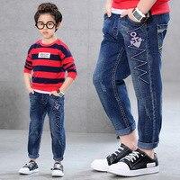 Thời trang Giản Dị Bé Trai Jeans Cho 3 4 6 8 10 11 12 Năm Tuổi Trẻ Em Quần Pants 2017 Cậu Bé Mới Quần Áo RKP175040