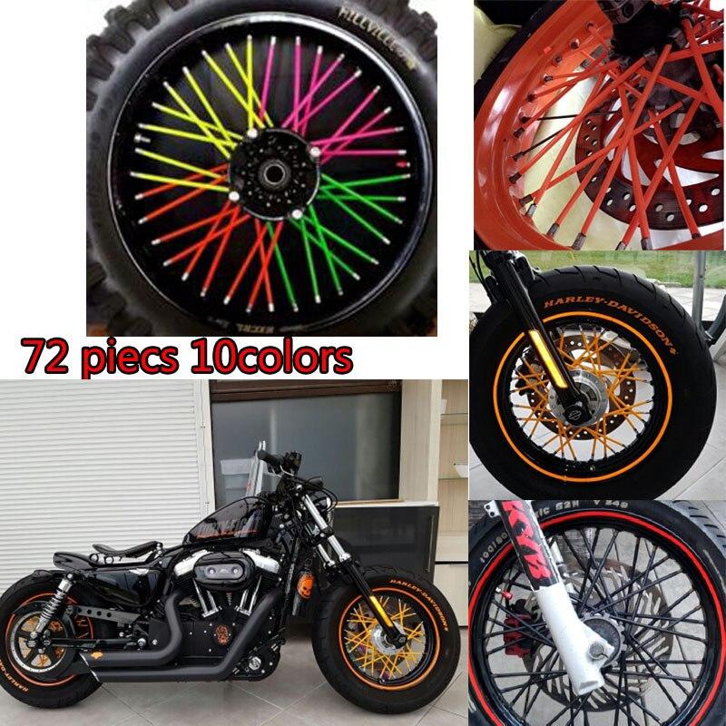 Dirt Bike Enduro Off Road Wheel Rim Spoke Skins Covers For Ktm 125