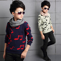 5-16T  Spring and Autumn Boys Thick Fleece Knitting Sweater