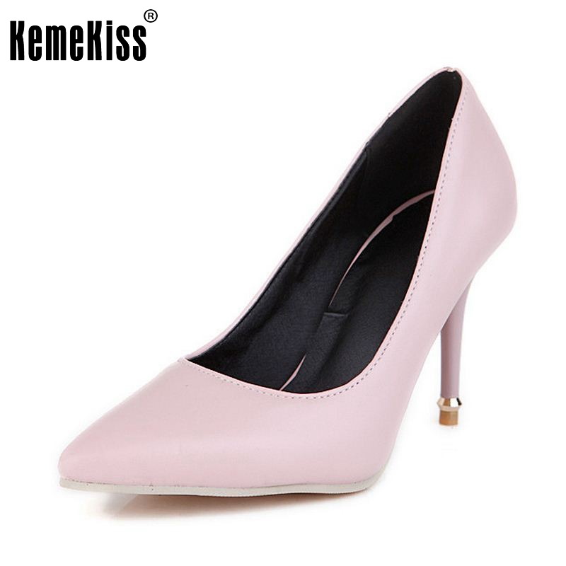 Size 32-47 Spring Summer New Fashion Star Pointed Toe Office Ladies High Heels Shoes Women Pumps Thin Heels Slip On Shoes new hot spring summer high quality fashion trend simple classic solid pleated flats casual pointed toe women office boat shoes