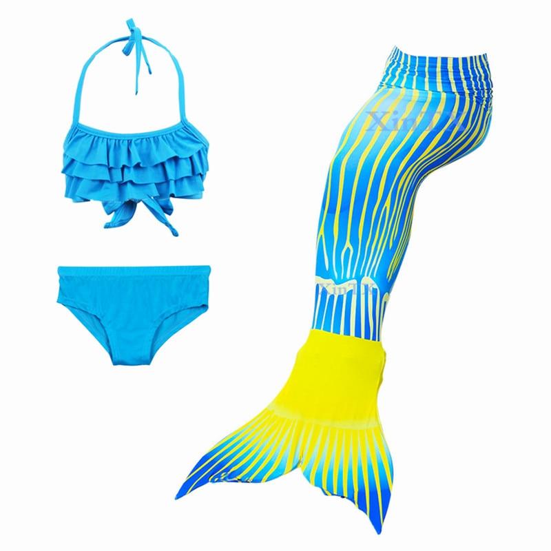 Mother & Kids Fancy 3pcs Kids Mermaid Mermaid Tail Beach Swimsuit Cosplay Costume Kids Mermaid Bikini Setmermaid Tails Extremely Efficient In Preserving Heat
