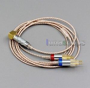 Image 2 - LN006375 היי Res כסף מצופה XLR 3.5mm 2.5mm 4.4mm אוזניות כבל עבור Sennheiser HD580 HD600 HD650 HDxxx HD660S HD58x HD6xx