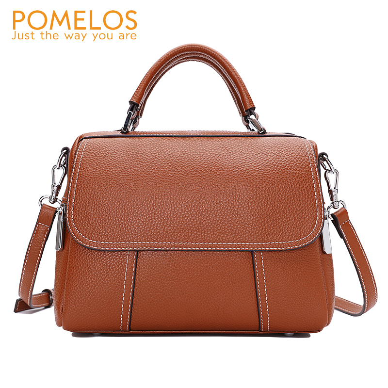 POMELOS Luxury Handbags Women Bags Designer New Arrival Genuine Leather Bags For Women Woman Shoulder Bag