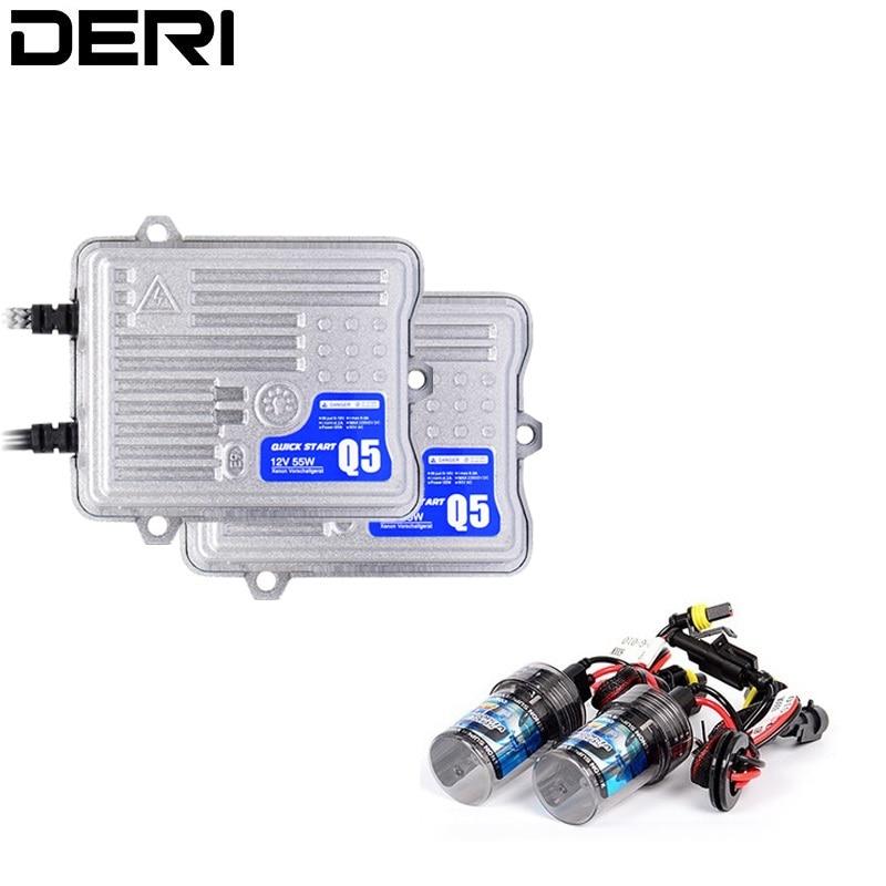 Ballast de décodeur Canbus AC C5 HID Slim 55 W ou Ballast de démarrage rapide lumineux Q5 rapide avec ampoules xénon H1 H3 H7 H11 9005 9006 12 V HID