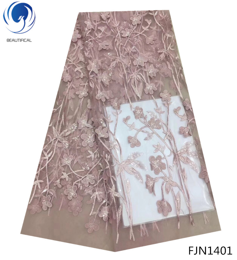 BEAUTIFICA african lace fabric with sequins 2018 hot selling sequin embroidery lace fabrics for wedding dress 5yards/lot FJN14BEAUTIFICA african lace fabric with sequins 2018 hot selling sequin embroidery lace fabrics for wedding dress 5yards/lot FJN14