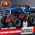 Nueva LEPIN 20011 1605 Unids SUV 4x4 Crawler Edición Exclusiva Técnica Modelo Kit de Construcción Educativa Bloques de Ladrillos de Juguete regalo 41999