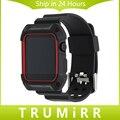 ТПУ Резиновый Ремешок Для Часов с Защитный Чехол для 38 мм 42 мм iWatch Apple Watch Band Ремешок Браслет с Рамкой Черный Красный белый