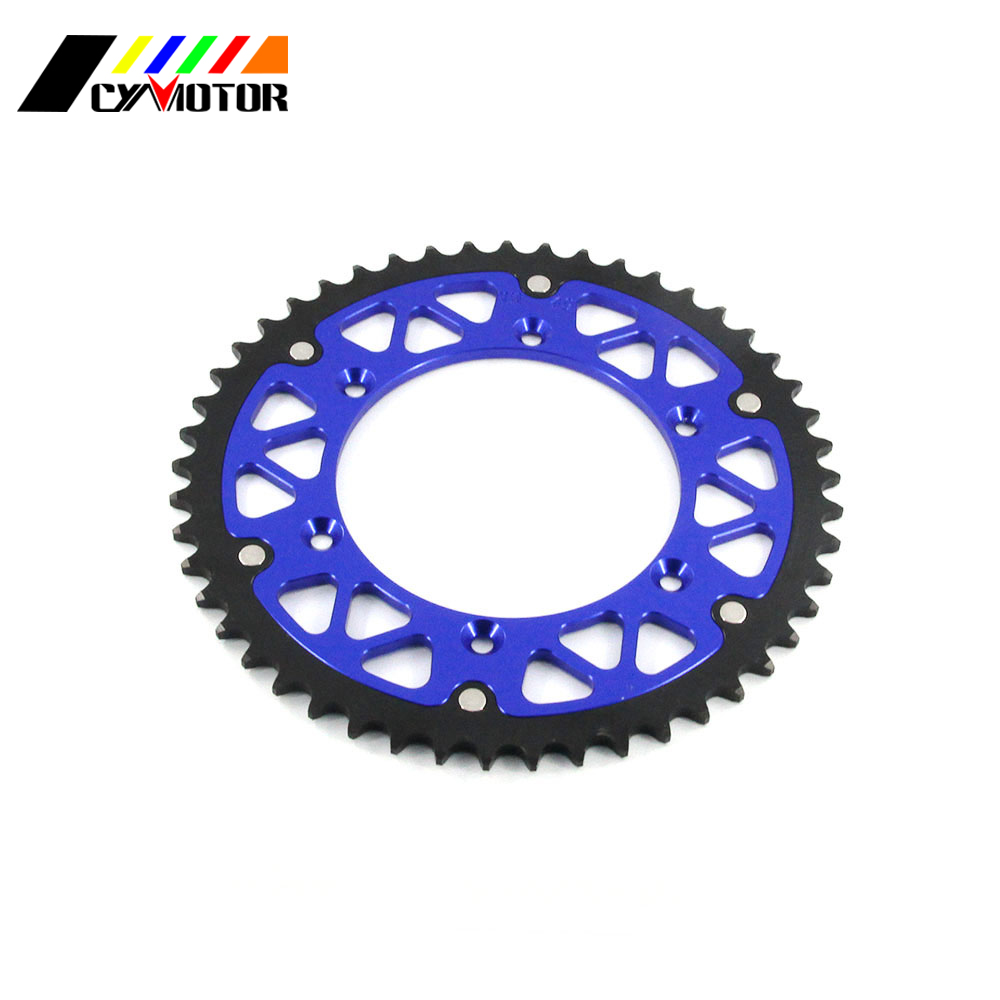 Motorcycle 44 46 47 48 49 50 51 52 Rear Chain Sprocket For YAMAHA YZ125 YZ250F WR250F WR450F YZ YZF WR WRF 125 250 426 450 motorcycle rear brake pads for tm en450 mx450 f 530 4t cross en530 f sm530 sme530 yamaha yz 125 250 400 426 wr 250 400 426 p09