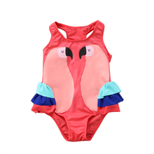 Toddler Kids Baby Girls Cartoon Bikini Swimwear Swimsuit Little Girl Bathing Beach Suit Costume