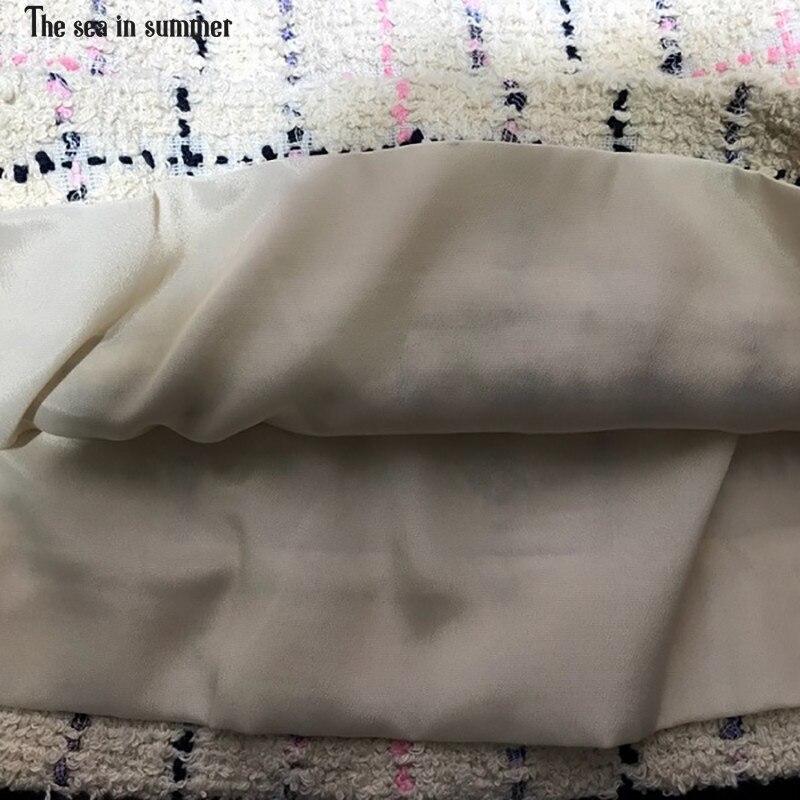 Jupe Coton Taille Mot Tissage Femmes Haute Treillis Qualité 2019 Printemps Nouveau De Mini Un aqpYYw