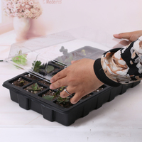 24 Cells Hydroponic Seedling Tray Sprout Plate Plant Seeds Grow Nursery Pots Tray Vegetable Seedling Pot Plastic Nursery Tray