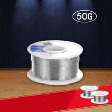 1 шт Оловянная проволока 0,6/0,8/1,0mm Core привести канифольный флюс 50 г припой пайки Reel Розин оловянный электропровод для пайки