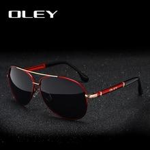 OLEY Classic brand pilot polarized sunglasses men Fashion dr