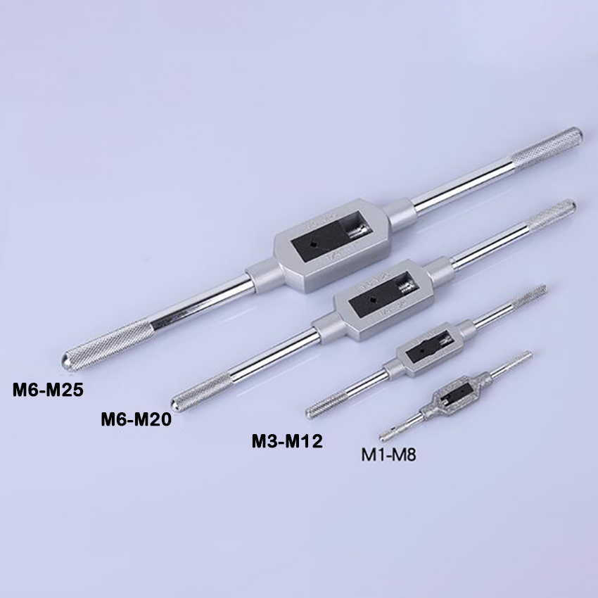 Tap Wrench M1-M8//M3-M12//M6-M20//M6-M25 Handle Tape Adjustable Reamer Spanner Tool