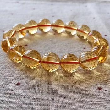 98ad19e794fd 8-14mm citrino pulsera de las mujeres pareja de cristal de dragón del  zodiaco perlas naturales brazaletes para las mujeres de joyería 2019