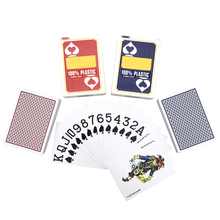 1Pcs Top Grade Texas Holdem Baccarat Poker Big Number Plastic Playing Cards Frosting Waterproof Stars Board Games 63*88mm