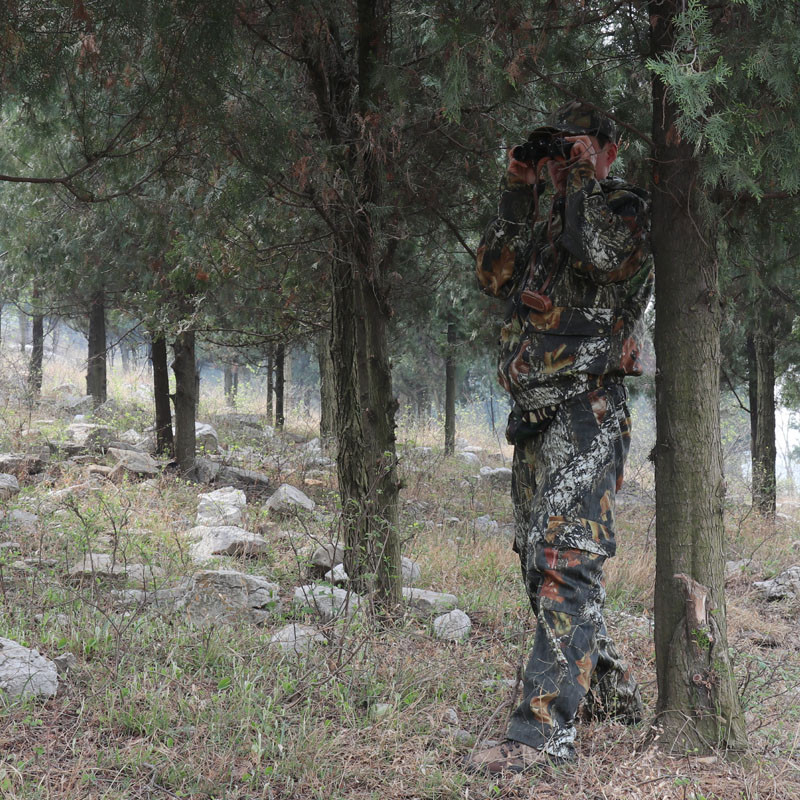 Breathable leaf camo ghillie Suits bionic camouflage jacket+pants+cap for photography hunting fishing or fabric camouflage leaf headgear