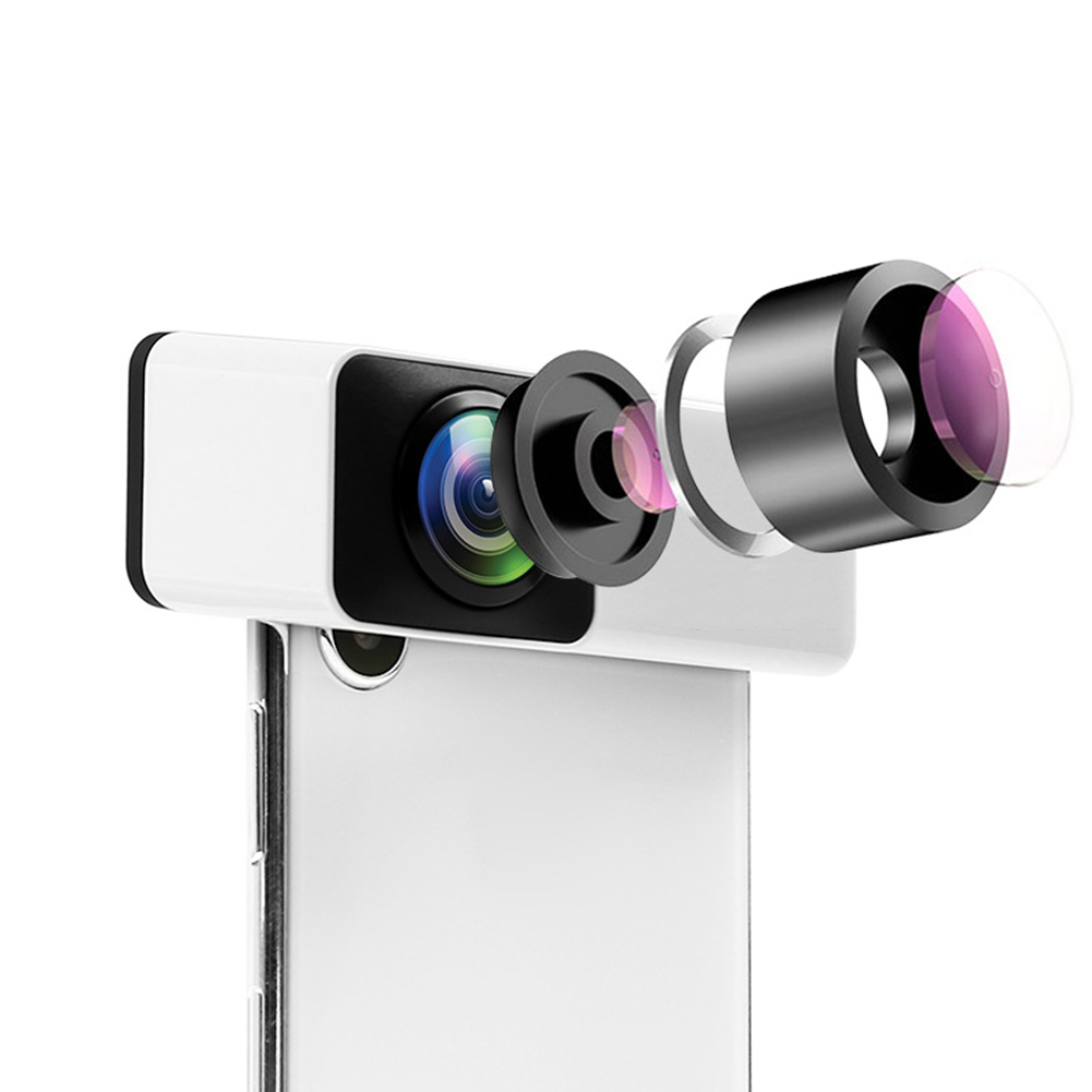 360 Degree Wide Angle Mobile Phone Lens Kit External Fisheye for iPhone X/XS