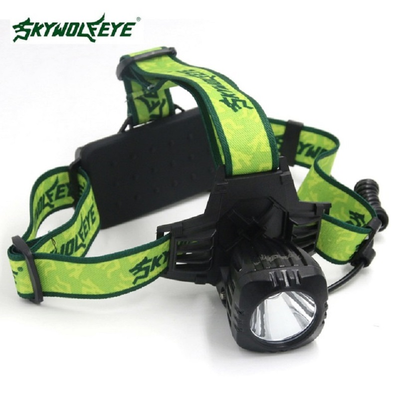 SKYWOLFEYE T6 LED Headlamp Headlight 500Lm Super Bright Rechargeable Head Light Lamp Torch Outdoor Fishing Cycling Camp Mining