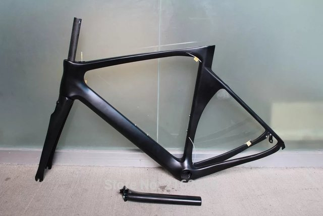 Cheap New 700C matte UD full carbon fibre bike frame Road carbon bicycle frame carbon fork+seatpost+clamp+headsets parts Free shipping