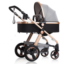 лучшая цена Baby stroller high landscape can sit and fold two-way four-wheel shock absorber winter and winter bb trolley stroller