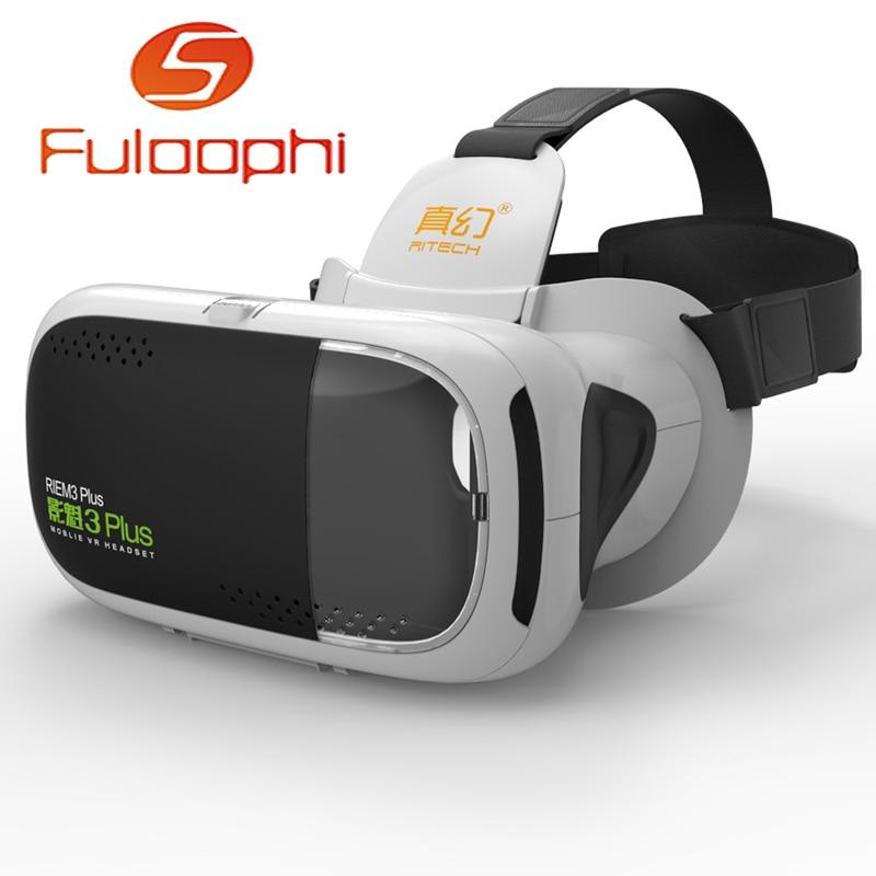 Ritech vmax caja de realidad virtual vr vr gafas 3d gafas casco de cartón para i