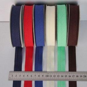 Ширина 20 мм (3/4 дюйма), гладкий, одинарный, хлопковый, уклонистый переплет/уклонистая лента для шитья, шитья, рукоделия