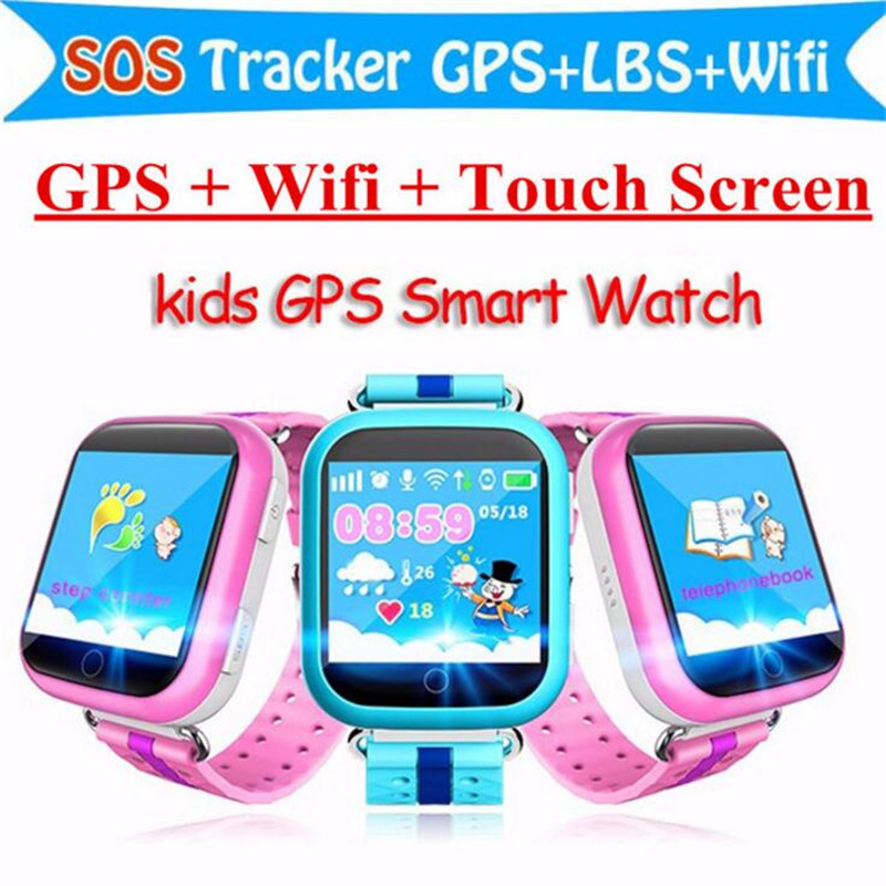 Children GPS Smart Watch Q750 Baby Watch With Wifi 1.54inch Touch Screen SOS Call Location Device Kids Watches Montre Megir F12