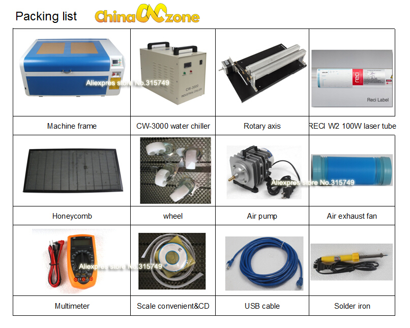 packing list SL1060