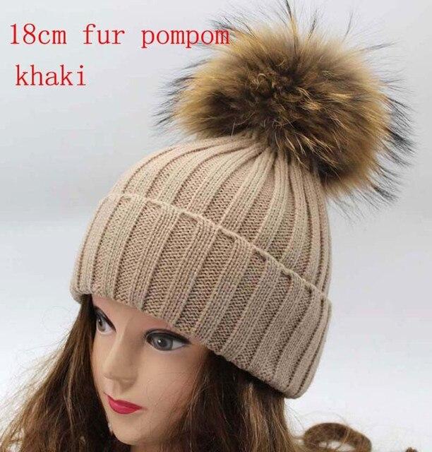 шапка женская Настоящее енот меховые шапки для женщин зимой помпонное шляпы шапка мужская россии bobble-головой Hat cap шапочка шапка с меховым помпоном для подарка Skullies шапки шапка шапки женские
