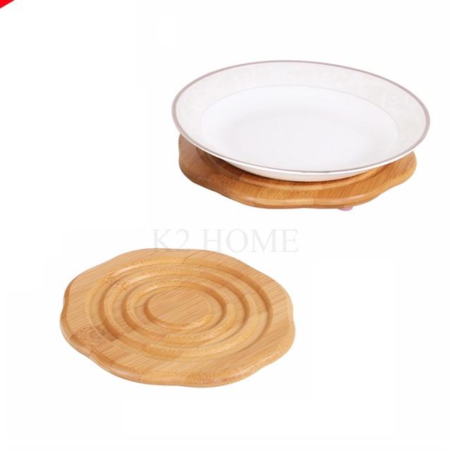kitchen hot pads wall lights k2 home bamboo pad mat trivet heat resistant multipurpose cup holder