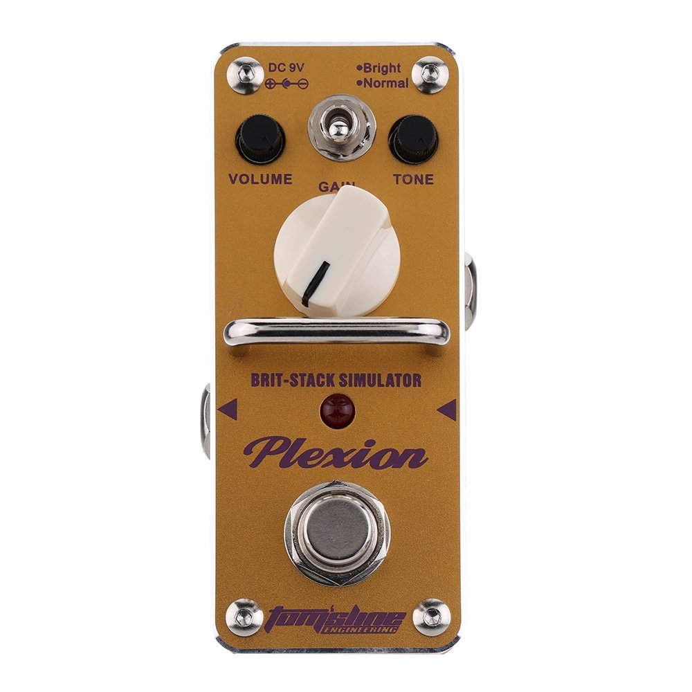 AROMA APN-3 Plexion Brit-stack Simulator Electric Guitar Effect Pedal Mini Single Effect with True Bypass aroma atp 3 tube pusher valve combo simulator electric guitar effect pedal true bypass guitarra part