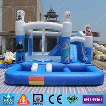 Commercial Outdoor Playground Inflatable Bouncer Castle with Pool for kids