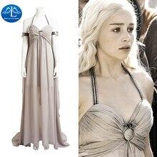 2016 New Hot Game of Thrones Daenerys Targaryen Cosplay Costume Sexy Womens Dress