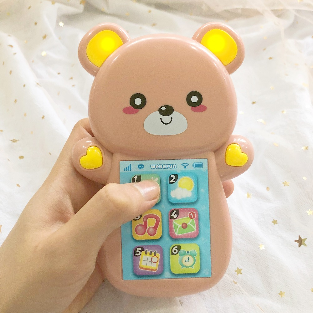 Electronic Toys Simulation Flip Cover Mobile Phone Toys For Children Educational Music Singing Vocal Toys Early Learning Vocal Toys For Kids