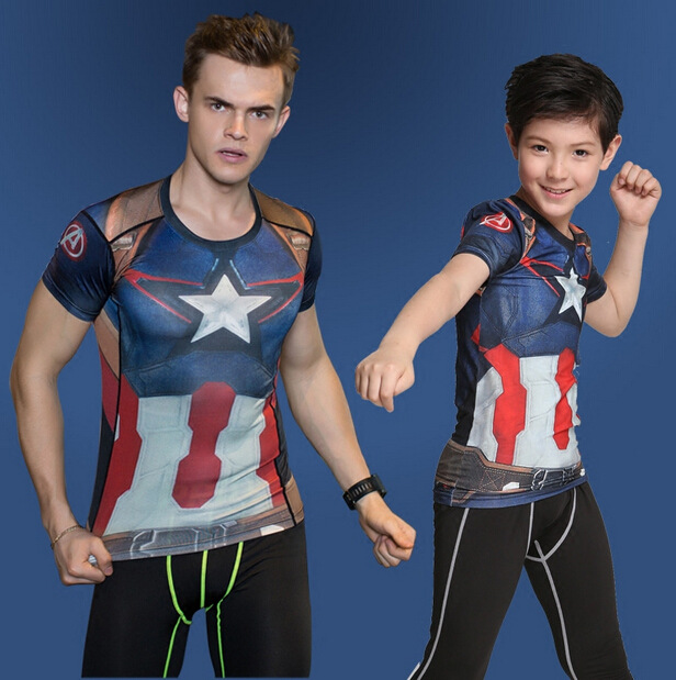 Infant Teenages Children 3D Hero T Shirt Boy Sport T-Shirt Superman Iron Spider Batman Man Print Brand Design Tops Stretch Tees 3d florals print cover placket shirt
