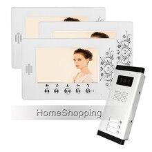 Apartment 7 Video Intercom font b Door b font Phone System 3 White Monitor 1 700TVL