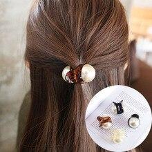 Fashion Mini Pearl Crab Hair Claw For Women Charming Accessories Girls Female Barrettes Hairpin Headwear