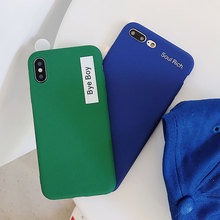 TPU Cute Plain Soft Case For iPhone X XS XR Xs Max 7 Plus 8 Cases 6S 6 Fashion Couples Cover