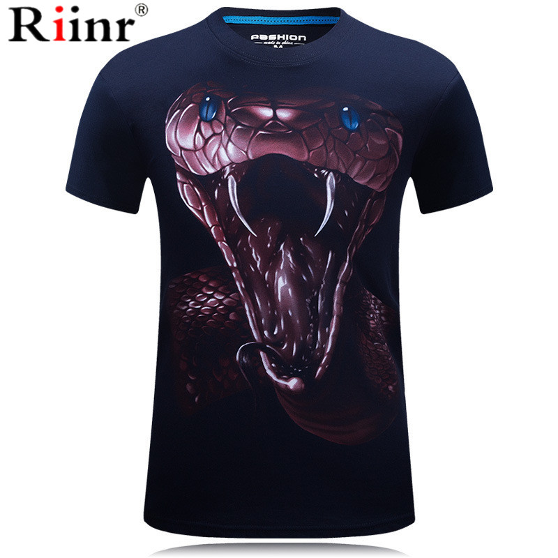 3D Printed T Shirts Snake Men Short Sleeve tshirts 2019 New Fashion Woman Funny Men Hip Hop Tops Summer Loose O-Neck Tops Tee