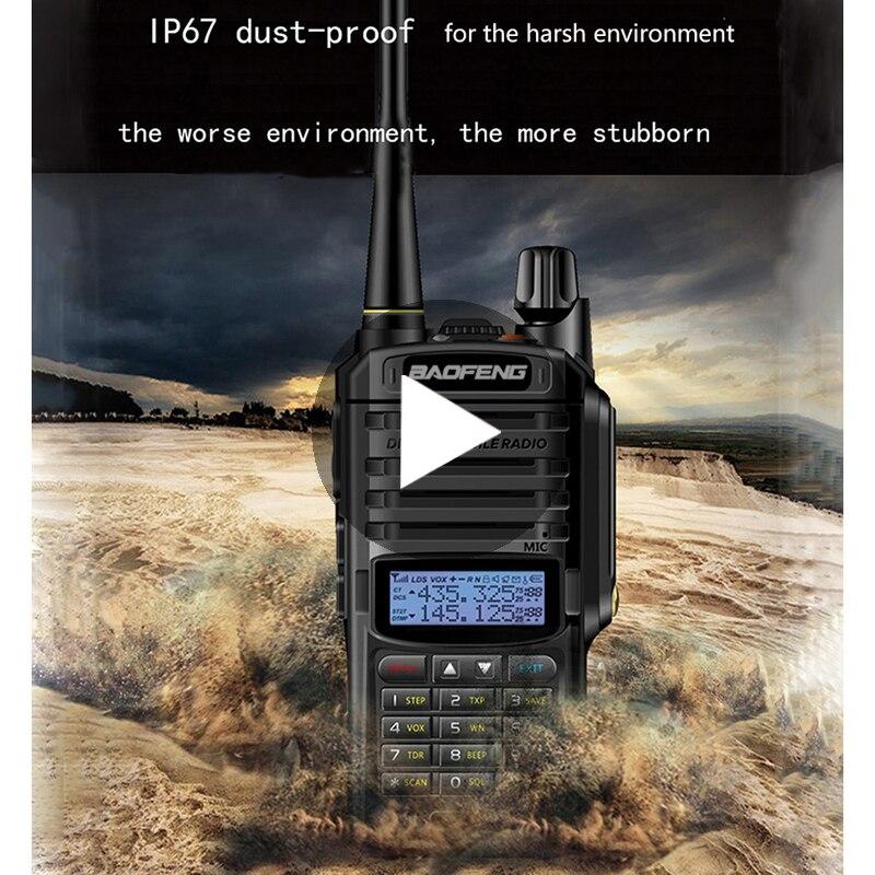 2 pièces Baofeng UV-9R UV 9R UV9R Plus étanche Baofeng talkie-walkie jambon VHF UHF Station de Radio IP67 émetteur-récepteur Boafeng 10 w km