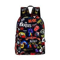 High Quality Rock Band Oxford Backpack For Teenage Women Men Knapsack College Student Bag School Backpack