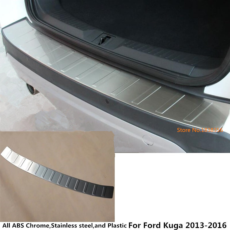 For Ford Kuga 2013 2014 2015 2016 car body Styling outside Rear Bumper trim Stainless Steel Scuff Sill trunk plate pedal 1pcs car styling accessories for 2015 2016 renault captur stainless steel rear bumper protector trunk guard door sill scuff plate